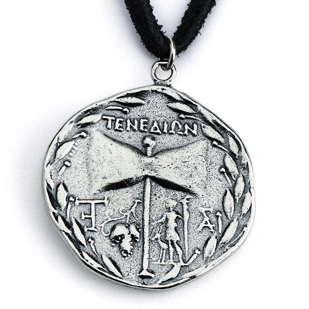 sterling silver replica janiform head of zeus and hera greek  -  sterling silver replica janiform head of zeus and hera greek coinpendant necklace