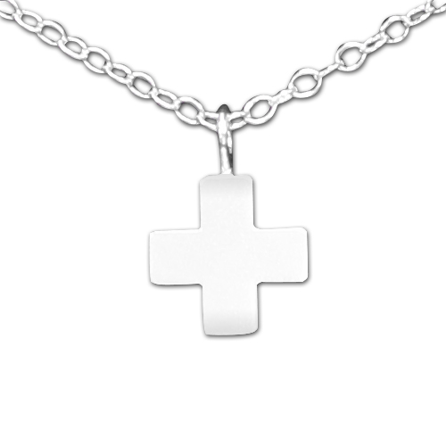 925 sterling silver tiny greek cross pendant necklace belcho usa mozeypictures Choice Image