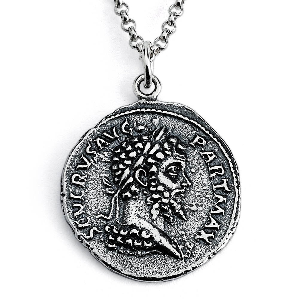 roman framed italy volusiano in to s history bringing decorative pin pendant silver coin necklace