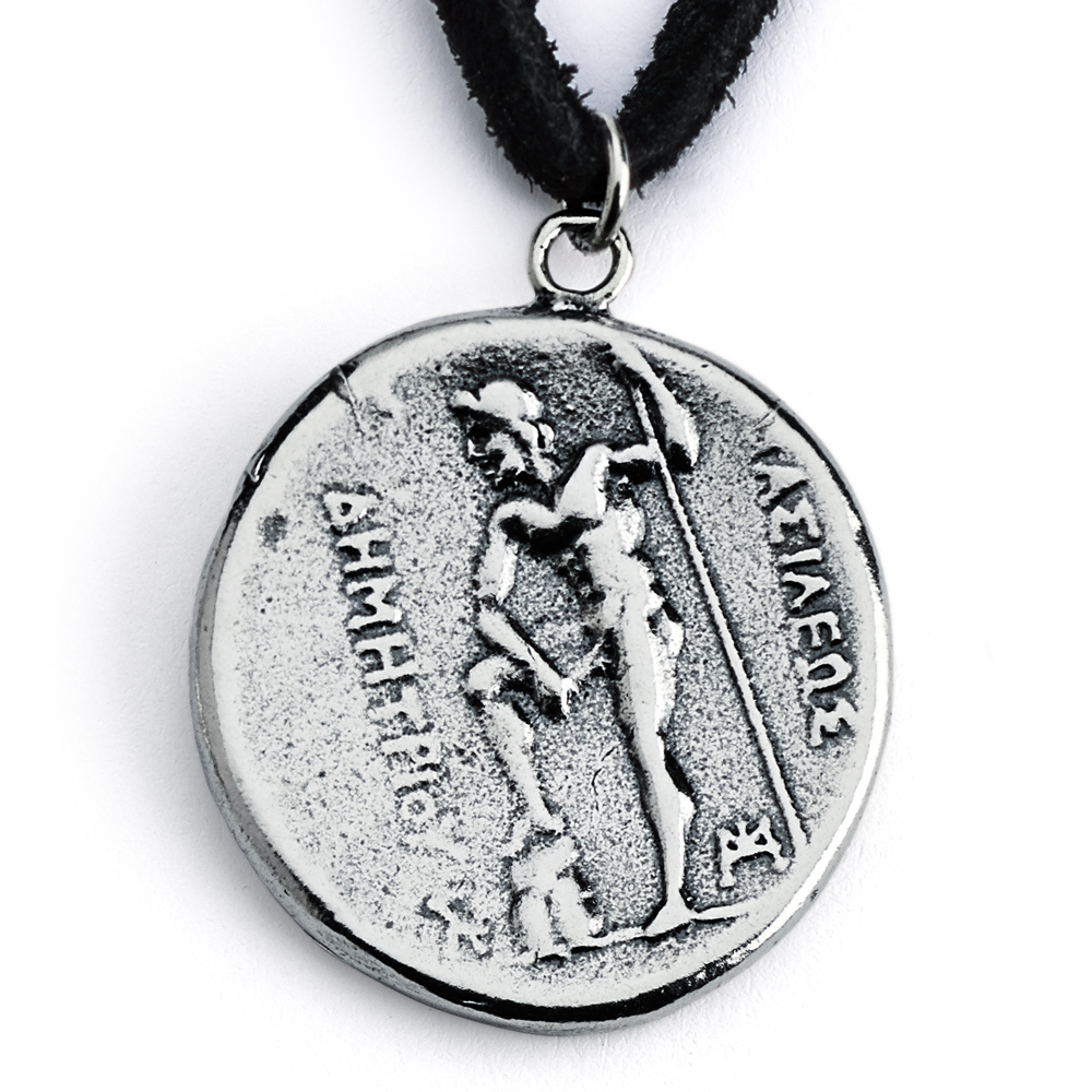 925 Sterling Silver REPLICA Demetrius I of Macedon Greek